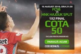 Pontul zilei din fotbal – Miercuri 16 August – Cota 2.02 – Castig potential 202 RON