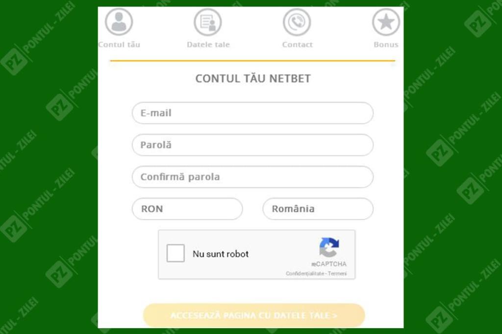 Deschidere cont online NetBet