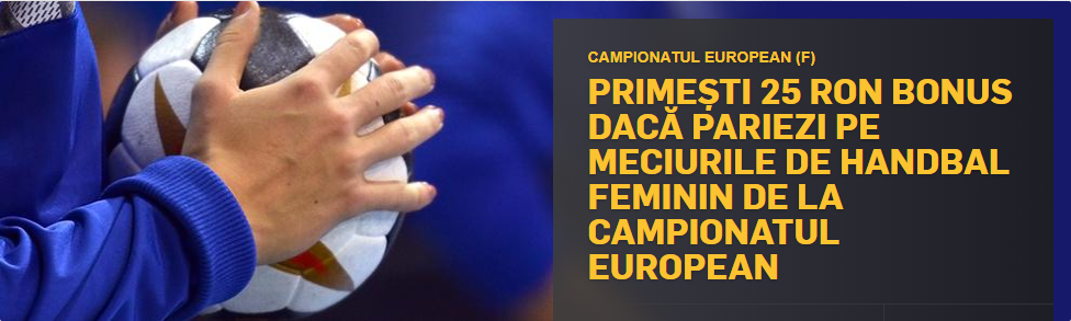 Pariaza pe Campionatul European de handbal feminin si primesti 25 RON!