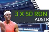 Pariaza pe Australian Open si ai 3 x 50 RON freebet!