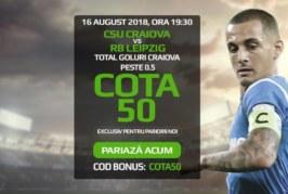 Biletul Zilei fotbal – Joi 16 August – Cota 3.80 – Castig potential 380 RON