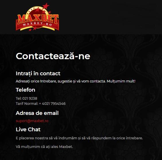 relatii clienti maxbet