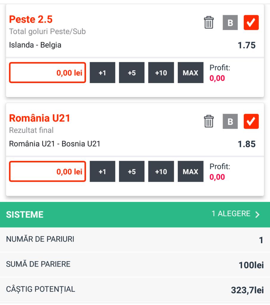 Biletul Zilei fotbal – Marti 11 Septembrie – Cota 3.24 – Castig potential 324 RON