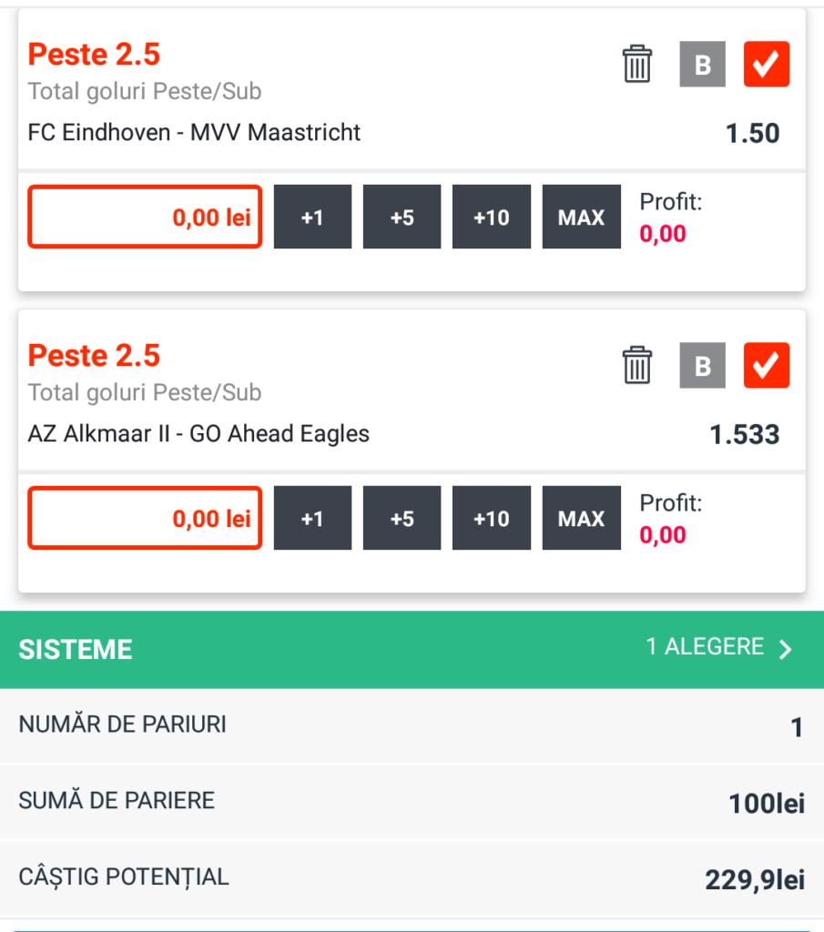 Biletul zilei fotbal Tudor Popa - Vineri 14 Septembrie – Cota 2.30 – Castig potential 230 RON