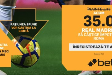 Cota zilei din fotbal – Miercuri 19 Septembrie – Cota 2.02 – Castig potential 202 RON