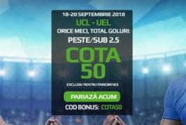 Biletul Zilei fotbal – Joi 20 Septembrie – Cota 2.24 – Castig potential 224 RON