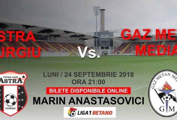 Ponturi Astra vs Gaz Metan Medias 24 septembrie 2018 Liga 1