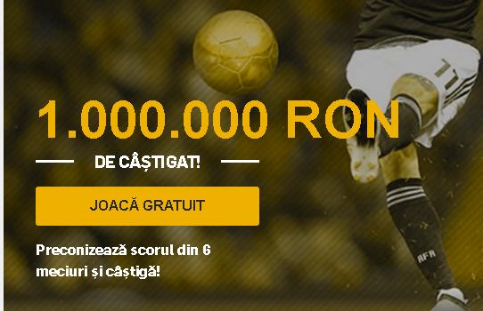Golden Goals revine la Betfair cu premii de 1.000.000 RON
