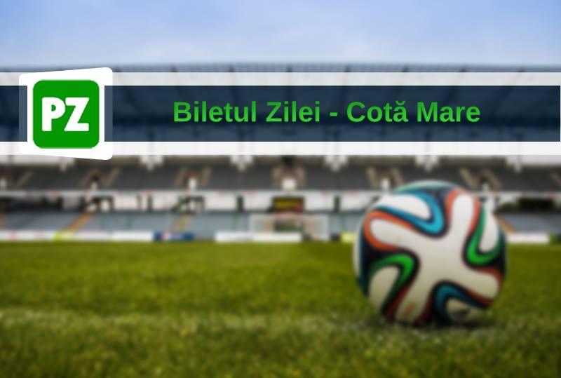 Biletul zilei fotbal COTA MARE – Miercuri 21 August – Cota 308 – Castig potential 3821 RON