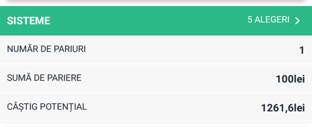 Biletul Zilei fotbal COTA MARE – Vineri 12 Octombrie – Cota 12.62 – Castig potential 1262 RON