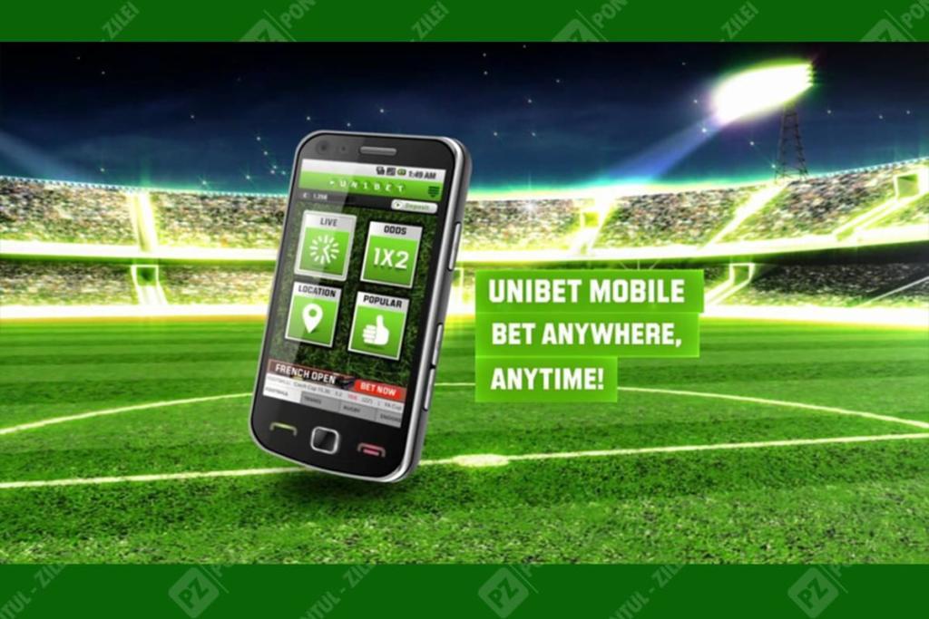 Aplicatie mobila Unibet