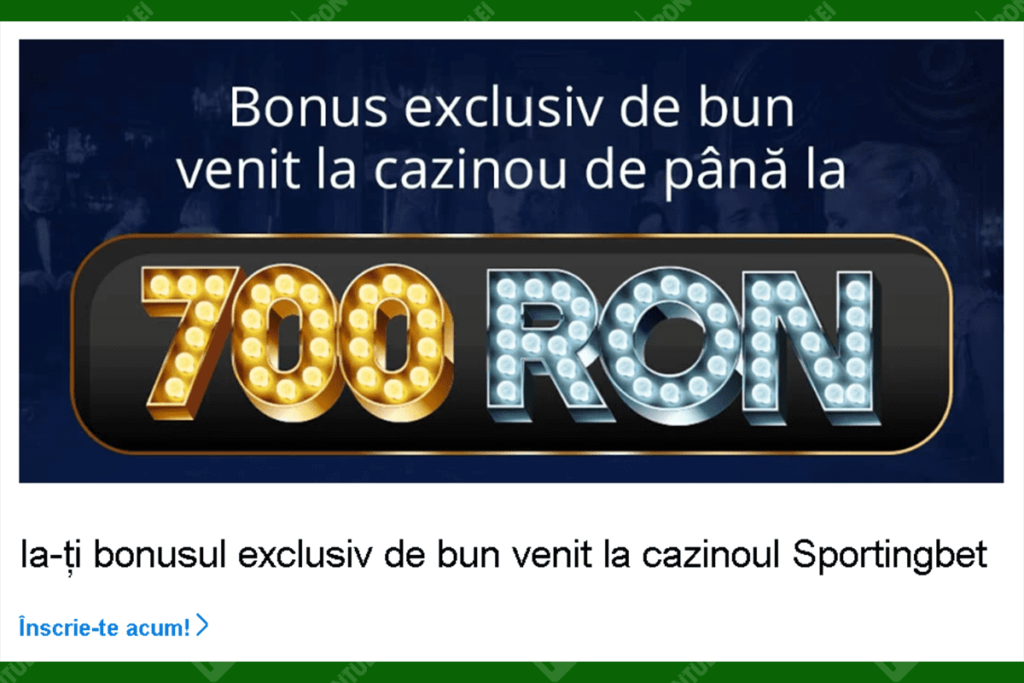 Bonus cazino Sportingbet