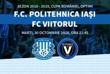 Ponturi pariuri Poli Iasi vs Viitorul Cupa Romaniei 30 octombrie 2018