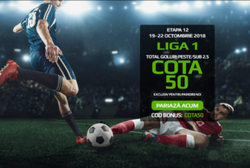 Incaseaza de 50X miza pariata daca se marcheaza cel putin 3 goluri in Dinamo cu Dunarea