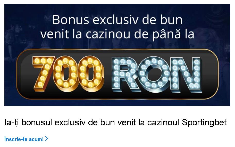 bonus de 700 ron la sportingbet casino