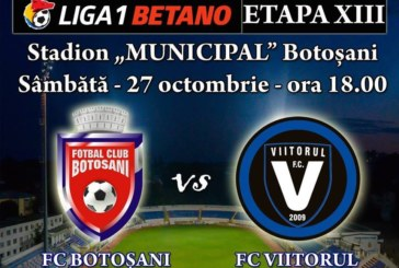Ponturi pariuri FC Botosani vs Viitorul – 27 octombrie 2018 Liga 1