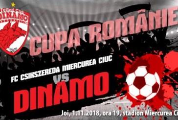 Ponturi pariuri Csikszereda Miercurea Ciuc vs Dinamo – 1 noiembrie 2018 Cupa Romaniei