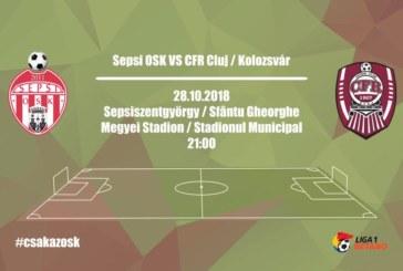 Ponturi pariuri Sepsi vs CFR Cluj – 28 octombrie 2018 Liga 1