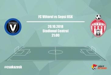 Ponturi pariuri Viitorul vs Sepsi – 20 octombrie 2018 Liga 1