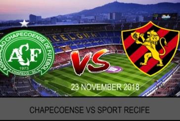 Ponturi pariuri Chapecoense-SC vs Sport Recife – Brazilia Serie A – 23 noiembrie 2018