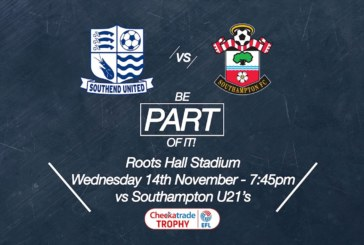 Ponturi pariuri Southend vs Southampton U21 – Anglia EFL Trophy 14 noiembrie 2018