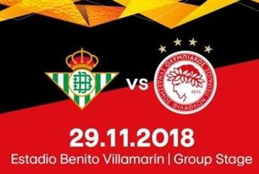 Ponturi pariuri Betis Sevilla vs Olympiakos Europa League 29 noiembrie 2018