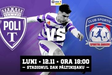 Ponturi pariuri Politehnica Timisoara vs Sportul Snagov – 12 noiembrie 2018 Liga a 2-a Romania