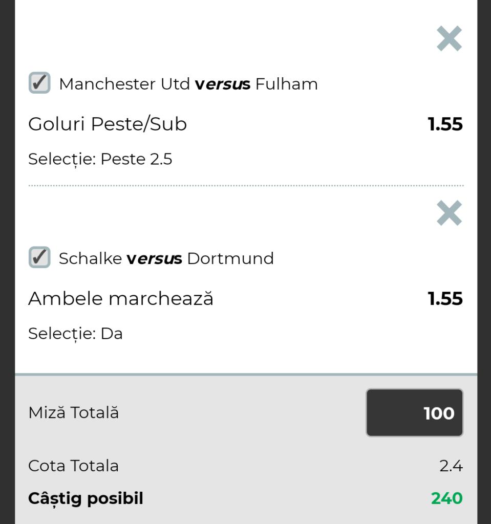 Biletul Zilei fotbal – Sambata 08 Decembrie – Cota 2.40 – Castig potential 240 RON