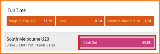 cashout la 888Sport