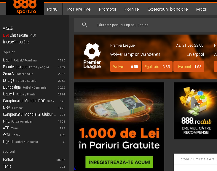 oferta pariuri 888Sport
