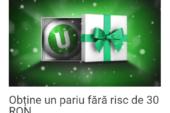 Calendarul Unibet! Oferta de azi: Pariu fără risc de 30 RON