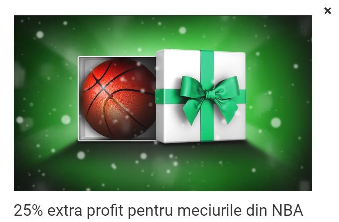 Calendarul Unibet! Oferta de azi: 25% extra profit pentru meciurile din NBA