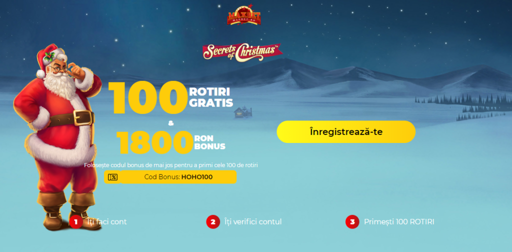 100 ROTIRI GRATIS & 1800 RON BONUS de la Maxbet toata luna Decembrie