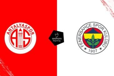 Ponturi pariuri Antalyaspor vs Fenerbahce – Super Liga Turciei 24 decembrie 2018