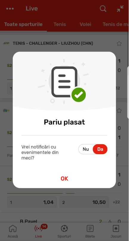 aplicatie mobil Superbet
