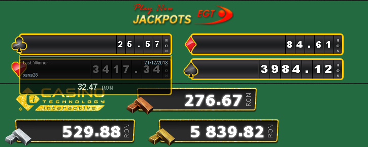 jackpoturi la cazinoul online Efbet
