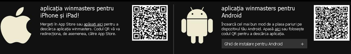 winmasters aplicatie mobil