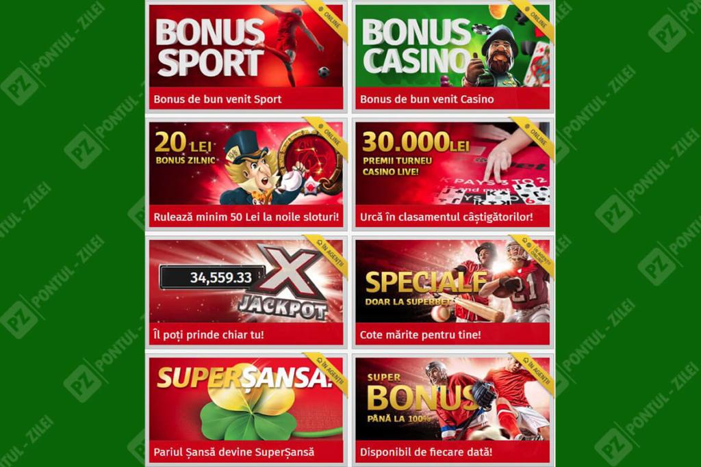Bonusuri si promotii Superbet