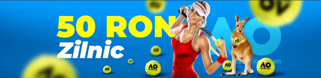 Depune la Maxbet pe perioada Australian Open si ai 50 RON pariu gratuit