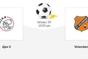 Ponturi Jong Ajax vs Volendam fotbal 28 ianuarie 2019 Eerste Divisie Olanda