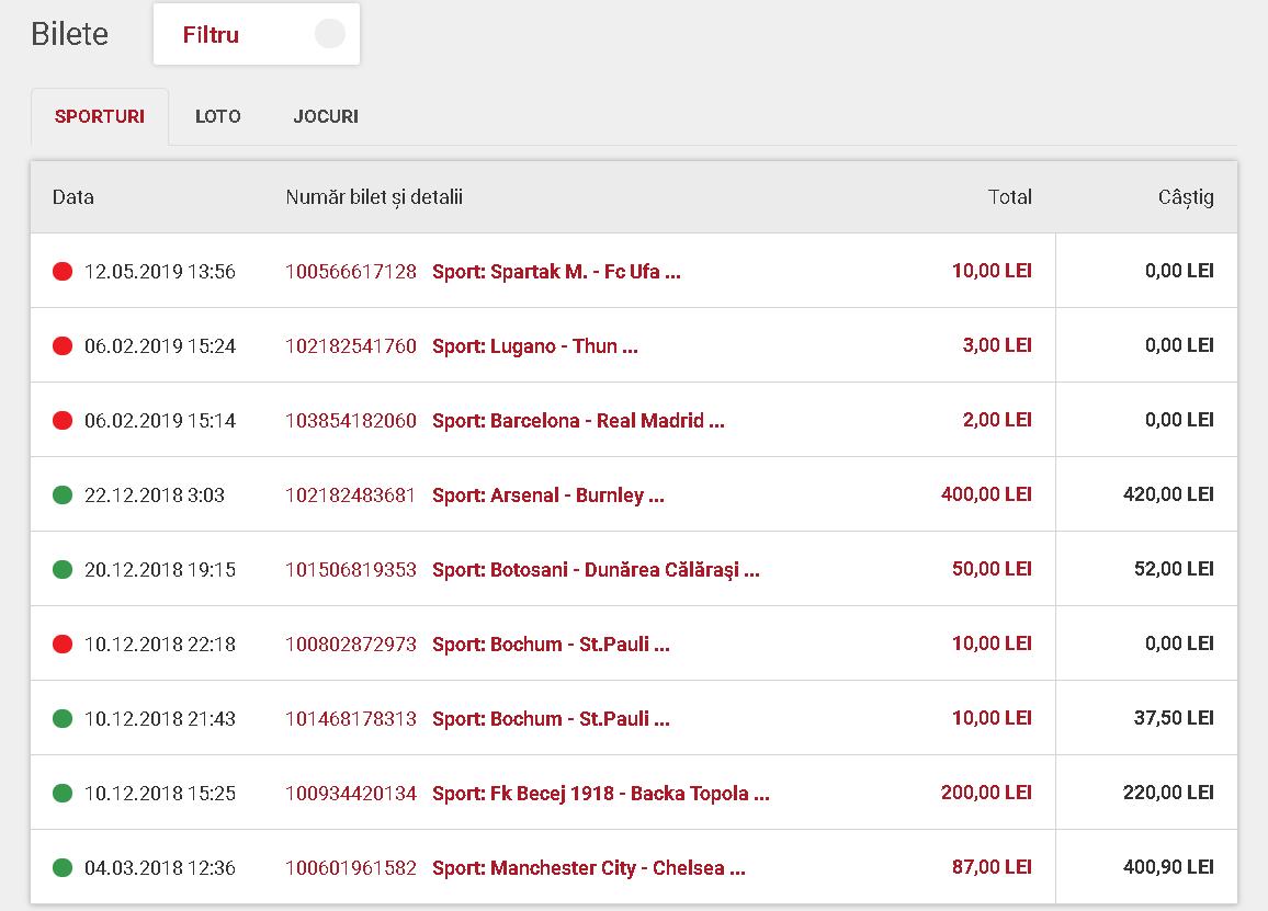 bilete online la casa pariurilor
