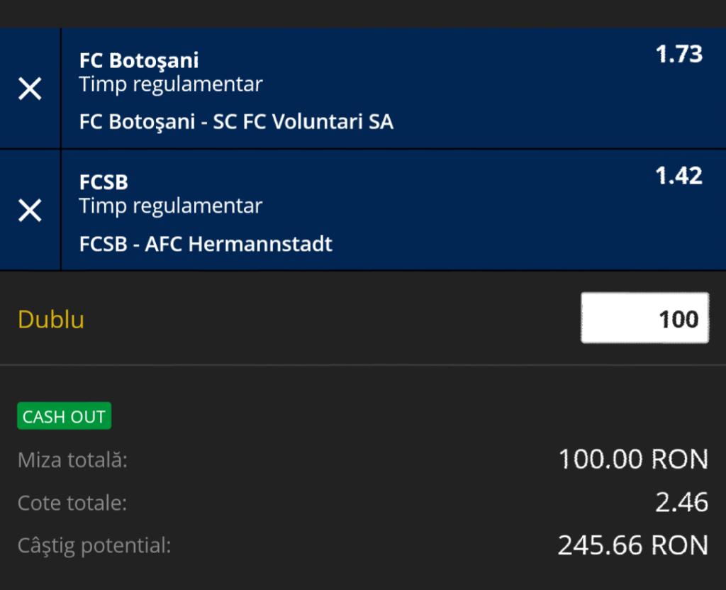 Biletul Zilei fotbal – Luni 11 Februarie – Cota 2.46 – Castig potential 246 RON
