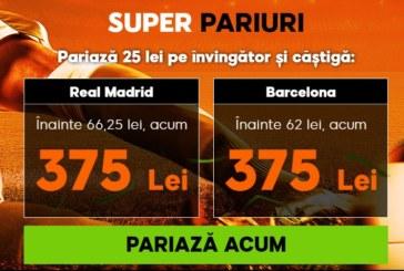 Nu ai voie să ratezi cotele mărite de la 888Sport pentru meciul de miercuri dintre Real Madrid vs Barcelona