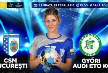 Ponturi CSM Bucuresti – Gyor handbal 23-februarie-2019 Champions League