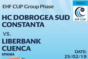 Ponturi Dobrogea Sud – Cuenca handbal 25-februarie-2019 Cupa EHF