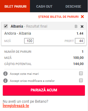 pont pariuri Andorra vs Albania