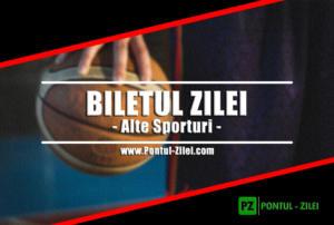 Biletul Zilei alte sporturi de la Ay Millz – Marti 19 Martie – Cota 1.94 – Castig potential 194 RON
