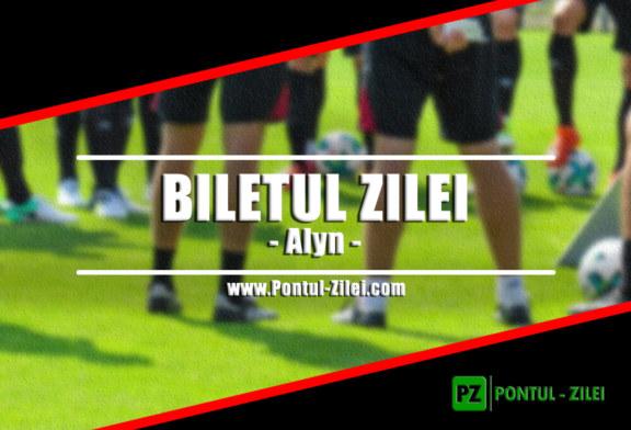 Biletul zilei din fotbal de la Alyn – Miercuri 27 Martie – Cota 2.61 – Castig potential 261 RON