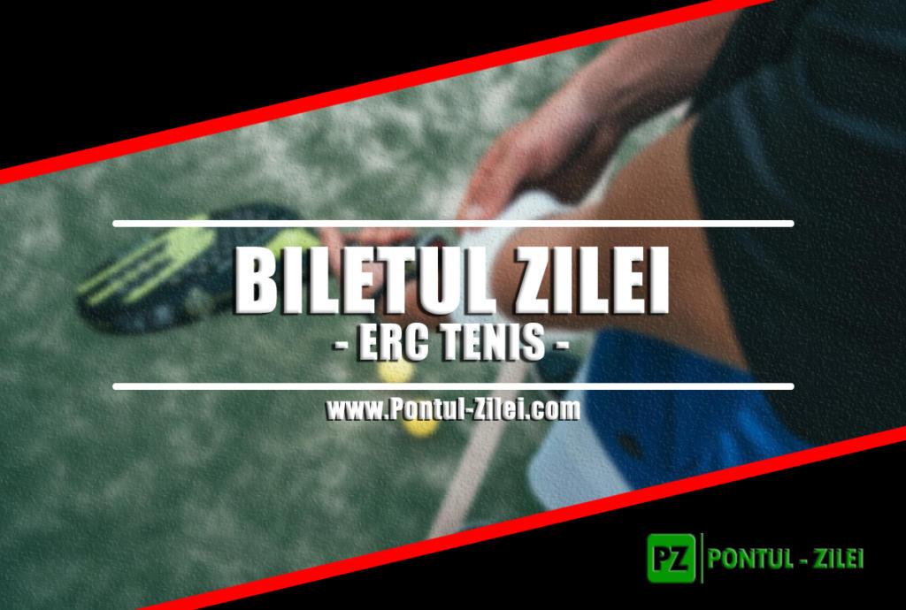 Biletul zilei din tenis de la ERC – Miercuri 09 Octombrie – Cota 2.13 – Castig potential 213 RON