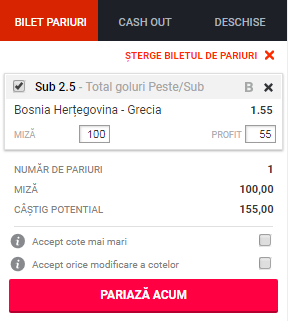 pont pariuri Bosnia vs Grecia